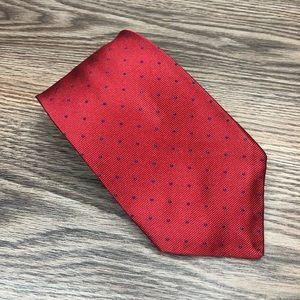 Robert Talbott Red w/ Navy Polka Dot Tie